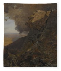 A Cliff In The Katskills Fleece Blanket