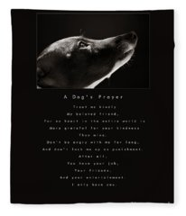 A Dog's Prayer  A Popular Inspirational Portrait And Poem Featuring An Italian Greyhound Rescue Fleece Blanket