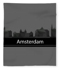 Amsterdam Skyline Fleece Blanket