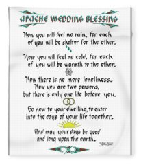 Apache Wedding Blessing Fleece Blanket