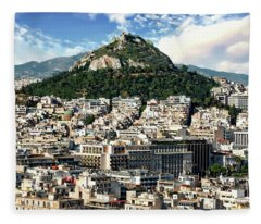 Athens Panorama Fleece Blanket