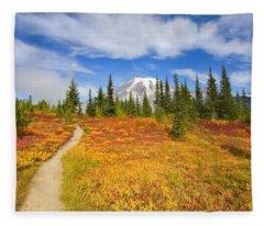Autumn Trail Fleece Blanket