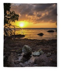 Bahia Honda Sunset Fleece Blanket