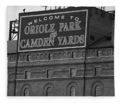 Baltimore Orioles Park At Camden Yards Bw Fleece Blanket