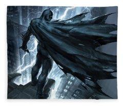 Batman The Dark Knight Returns 2012 Fleece Blanket