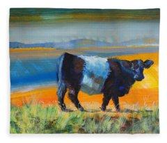 Belted Galloway Cow Fleece Blanket