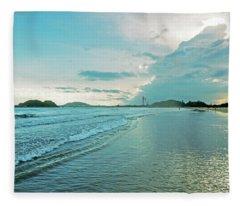 Binh Hai Beach Fleece Blanket