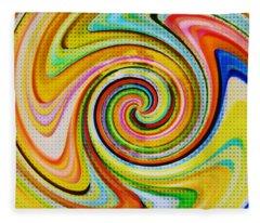 Spiraling Glass Art Fleece Blanket