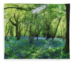 Bluebells In The New Forest Fleece Blanket
