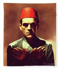 Boris Karloff, Vintage Horror Legend Fleece Blanket