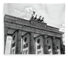 Brandenburg Gate - Berlin Fleece Blanket