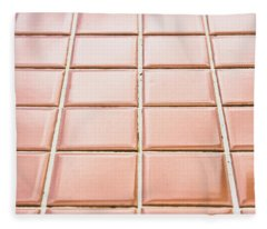 Brown Tiles Fleece Blanket
