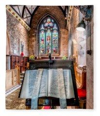 Church Interior Fleece Blanket