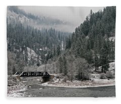 Clearwater River Fleece Blanket