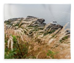 Cliffs At Kullaberg Fleece Blanket