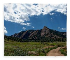 Colorado Landscape Fleece Blanket