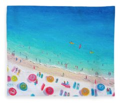 Colors Of The Beach Fleece Blanket