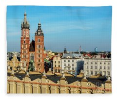Cracow, Poland Fleece Blanket