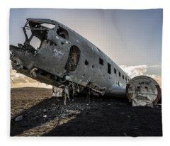 Crashed Dc-3 Fleece Blanket