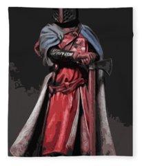 Crusader Warrior Fleece Blanket
