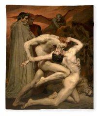 Dante And Virgil In Hell  Fleece Blanket