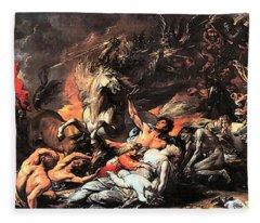 Death On A Pale Horse Fleece Blanket