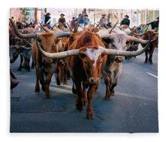 Denver National Western Stock Show Kick-of Parade 2018 Fleece Blanket