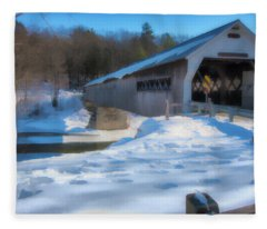 Dummerston Bridge Fleece Blanket