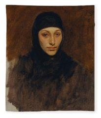 Egyptian Woman Fleece Blanket
