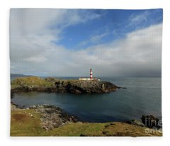 Eilean Glas Lighthouse Fleece Blanket