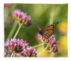 Flight Of The Monarch 1 Fleece Blanket