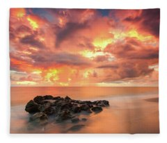 Florida Sunrise Fleece Blanket