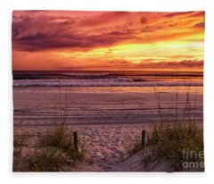 Florida Sunset Fleece Blanket