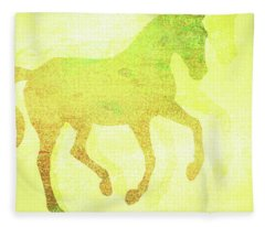 Flying Change Splattered Fleece Blanket