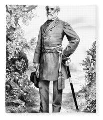 General Robert E. Lee Fleece Blanket