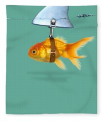 Gold Fish  Fleece Blanket