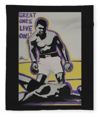 Great Ones Live On Fleece Blanket