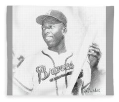 Hank Aaron Fleece Blanket