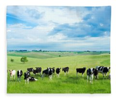 Happy Cows Fleece Blanket