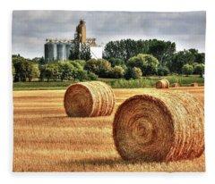 Hay Making Time Fleece Blanket