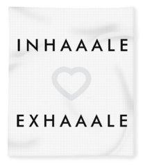 Inhale Exhale Fleece Blanket