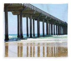 Into The Ocean Fleece Blanket