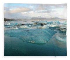 Jokulsarlon The Glacier Lagoon, Iceland 2 Fleece Blanket