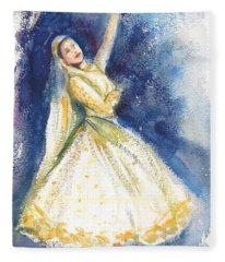 Kathak Dancer Fleece Blanket