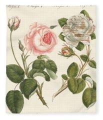 Kinds Of Roses Fleece Blanket
