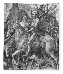 Knight Death And The Devil Fleece Blanket