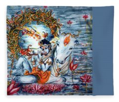 Krishna Fleece Blanket