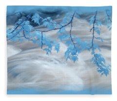 Leaves Over Gossamer Waters Fleece Blanket