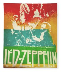 Led Zeppelin Fleece Blankets Fine Art America