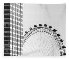 London Eye Fleece Blanket